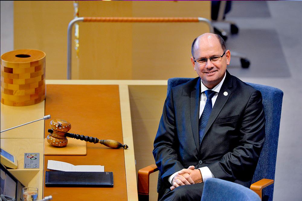 Talman Urban Ahlin (S) under riksmˆtets ˆppnande i riksdagshuset i Stockholm ptisdagen